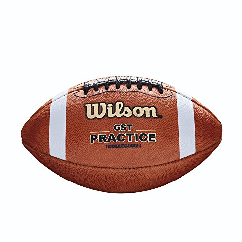 Wilson GST Practice Football (1003 Pattern) (Wilson Football Leather)
