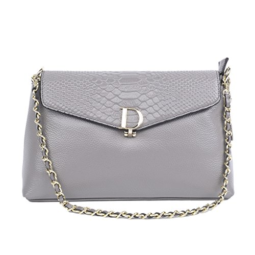Grey Cowhide Style QZUnique European Genuine Women's Shoulder Leather Bag Handbag T5wqzUxqA
