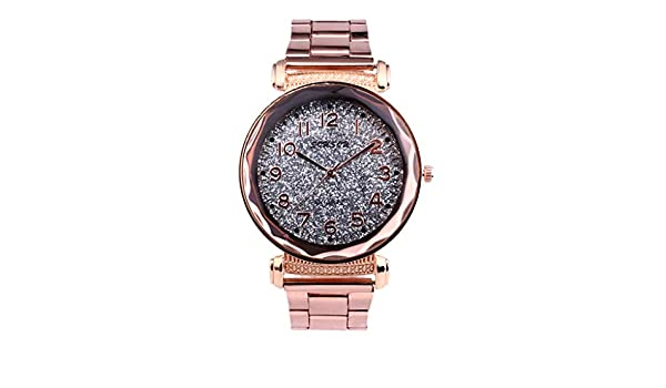 Amazon.com: High-End Fashion Ladies Watch Casual Exquisite Sky Stars Empty Steel Belt Watch Tracker for Men Women Watches Smart Wat: Cell Phones & ...