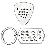 Best Dad Gifts For Fathers Daddies - 2PCS Men Guitar Pick Key Chain Set Father Review