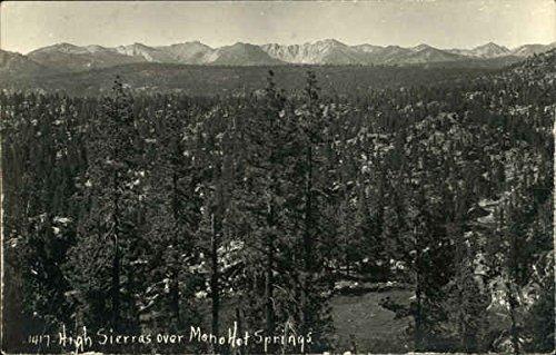 High Sierras over Mono Hot Springs Mono Hot Springs, California Original Vintage - Springs Sierras Hot