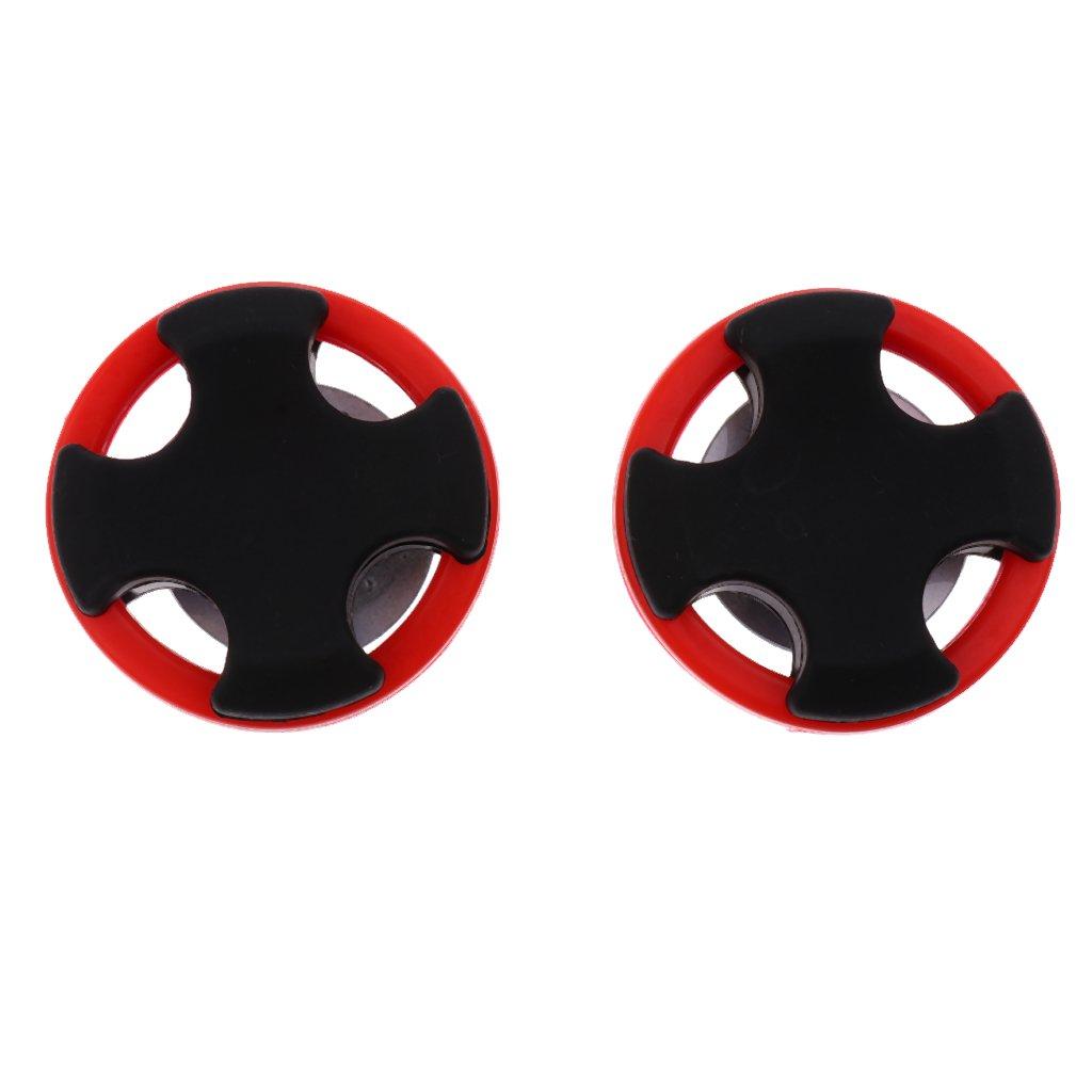 Sharplace 2pcs Tir /à Larc Arc Stabilisateurs Amortisseur pour Arc Recourb/é R/éduire Bruit et Vibration Diam/ètre 4.5 cm /Épaisseur 2 cm