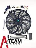A-Team Performance 140041 16' Heavy Duty 12V Radiator Electric Wide Curved...