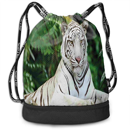 TRUSTINEE Albino Bengal Cat Large Capacity Drawstring Bag Backpack Bundle Backpack