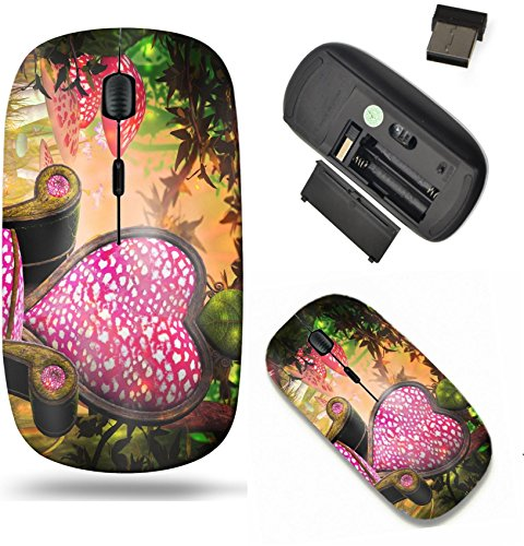 Liili Wireless Mouse Travel 2.4G Wireless Mice with USB Receiver, Click with 1000 DPI for notebook, pc, laptop, computer, mac book IMAGE ID: 21138409 Wonderland Background (Scroll Wonderland)