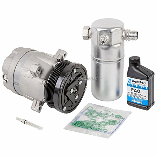 New AC Compressor & Clutch With Complete A/C Repair Kit For Chevy GMC Isuzu 2.2L - BuyAutoParts 60-80155RK New (Compressor Ac Sonoma)