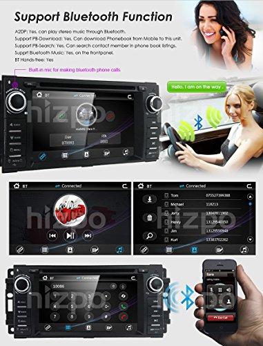 Hizpo Car Stereo GPS DVD Player for Dodge Ram
