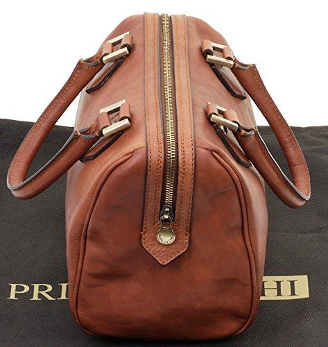 Grab sac dames stockage Primo de Brun de en le Sacchi® de poignée Inclut marque épaule cuir italiennes main luxe bandoulière à sac double SzqCTxwz