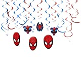 Ultimate Spider-Man Birthday Party Hanging Swirl Ceiling Decoration,  Foil , 7