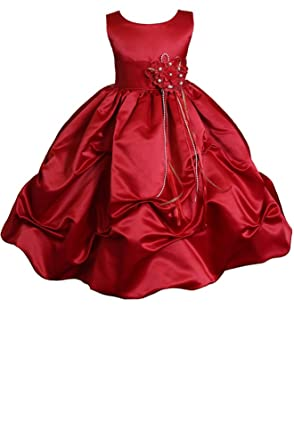 57a57bfccfd9d AMJ Dresses Inc Big Girls' Red Flower Girl Christmas Dress A1403 ...