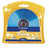 Verbatim DVD-R 4.7GB 16x AZO Recordable Media Disc - 10 Disc Blister - Assorted Colors