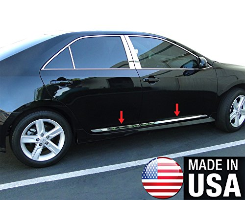 (Made in USA! Works with 2012-2014 Toyota Camry Accent Side Molding Body Trim 1 1/2'' Wide)