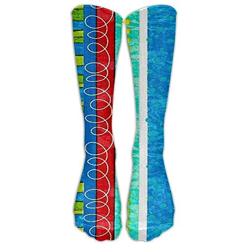 Women Athletic Warm Stockings Bug's Life Funky Stripe Graduated Compression - Best Medical, Nursing, Travel & Flight - & Fitness (65CM) Popular Cool Over The Knee Novelty Socks