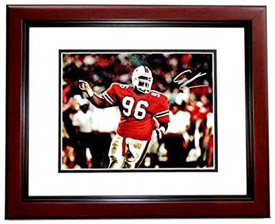 Autographed Cortez Kennedy Photo - UM 8x10 inch MAHOGANY CUSTOM FRAME Guaranteed to pass or JSA Deceased 2017 - PSA/DNA Certified