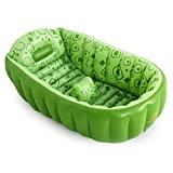 Can Sit And Lay Newborn Child Thickened Folding Inflatable Tub Material: 6P Embossed Green PVC Size: 905530 (0-3 Years Old) Bathtub (Color : A)