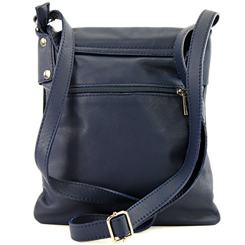 Blue ital leather ladies Dark modamoda bag Shoulder bag Messenger de T33 vg1w45