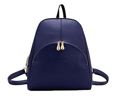 YAANCUN Mujeres Pu Cuero Backpack Mochilas Escolares Mochila ...