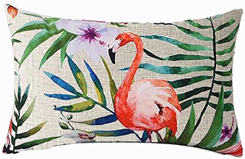 Hand-painted Tropical Flowers and Birds Foliage Plant Christ
