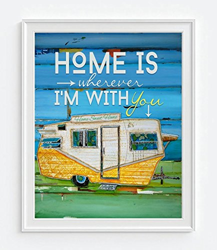 Vintage Camper Art goes with retro rv decor