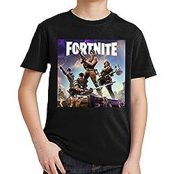 fresh tees Fortnite Heroes Fortnite Gamers Youth T- Shirt (X- Large 14/16 yrs, Black)