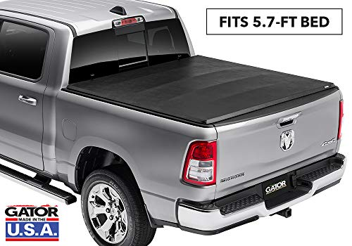 Cover Tonneau Truck Fold (Gator ETX Soft Tri-Fold Truck Bed Tonneau Cover | 59201 | fits Dodge Ram 2009-18, 2019 Classic 1500 (5 ft 7 in bed) - does not fit RamBox)