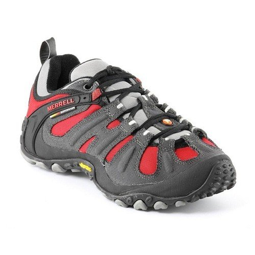 Mens Chameleon Wrap - Merrell Chameleon Wrap Slam Walking Shoes UK 6.5 Charcoal Red