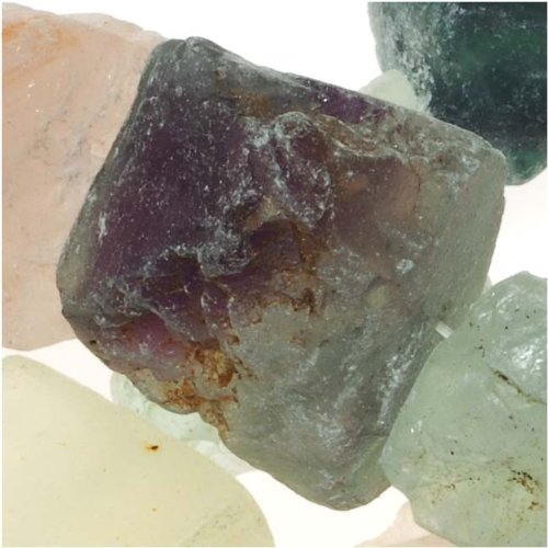 Gemstone Mix Huge Rough Nuggets Beads Fluorite, Serpentine, Quartz 12-33mm