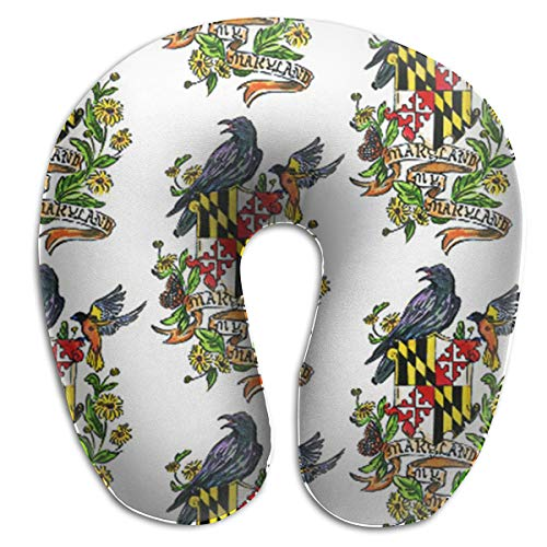 LinBei My Maryland Baltimore Oriole Memory Foam Travel Neck Pillow Portable Cervical U Pillow Camping