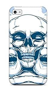 AnnaSanders Perfect Tpu Case For Iphone 5c/ Anti-scratch Protector Case (skull Triptych Dark Abstract Dark)