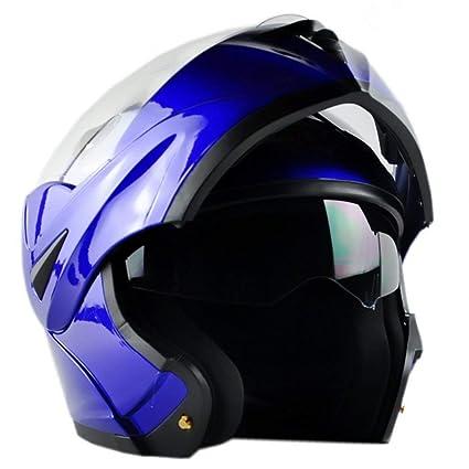 ILM 6 Colors Motorcycle Dual Visor Flip up Modular Full Face Helmet ECE