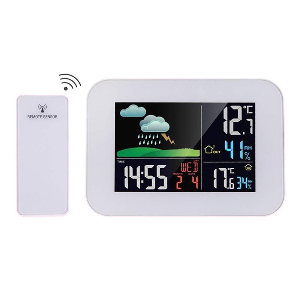 Happy nest Multifunctional Indoor Outdoor Temperature Monitor Digital Wireless Hygrometer Wireless Temperature and Humidity Monitor by Happy nest