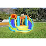 Swimming Pools & Waterslides for Kids, Sportspower Double Slide and Bounce Inflatable Water Slide and Climbers