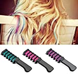 Brussels08 1Pc Temporary Hair Chalk Comb Powder Comb Hair Dye Non Toxic Washable Hair Color Comb Temporary Hair Styling Paint Dye For Unisex Kids Adults Party Cosplay DIY Dress up Green
