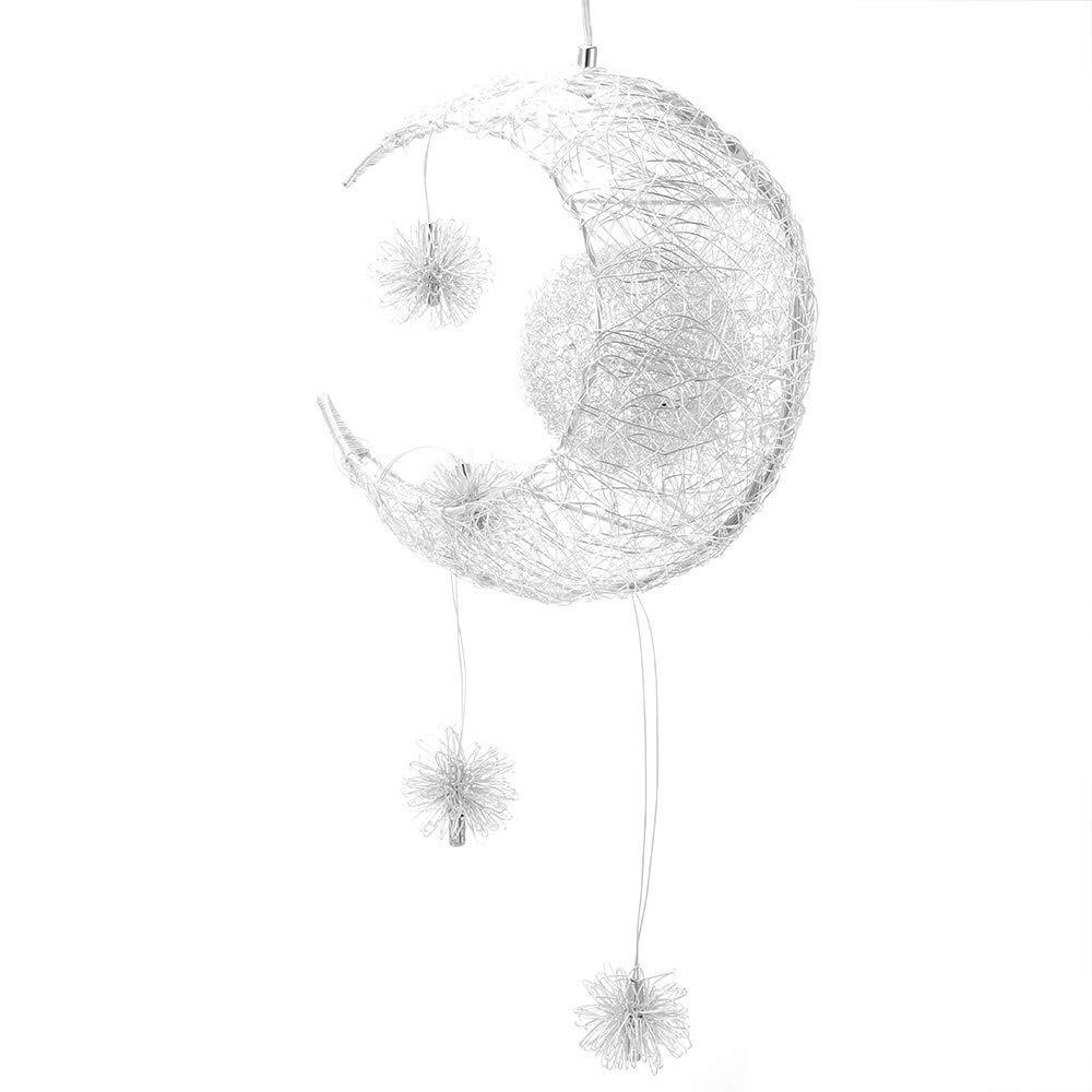 Luz de Techo L/ámpara de Hada Luna y Estrellas L/ámpara Colgante Dormitorio Ara/ña Gran Regalo para Ni/ño Amigo ALLOMN L/ámpara Colgante LED Blanco C/álido