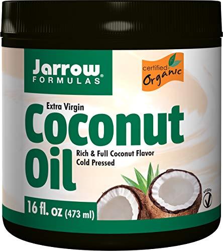 Jarrow Formulas Coconut Oil 100% Organic, Extra Virgin, 16 Ounce