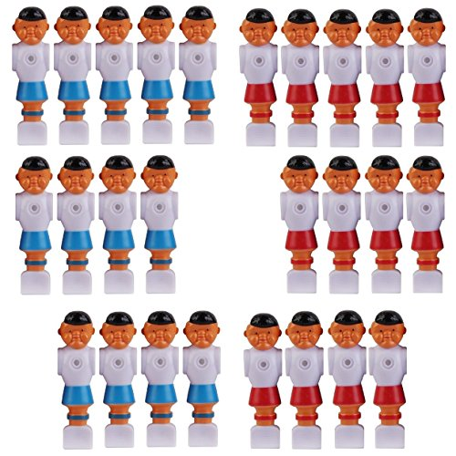 13 Red and 13 Blue Old Style Foosball Men 26 Players w/Ears Fits 5/8 inch Rods