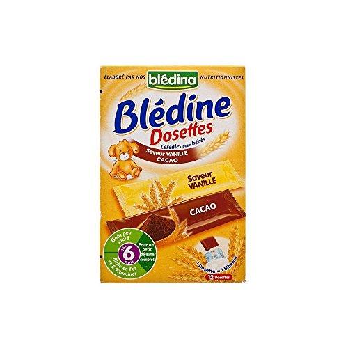 Bledina Bledine Cereals Sachets for Babies Cocoa & Vanilla 6mth+ (12 per pack - 240g)