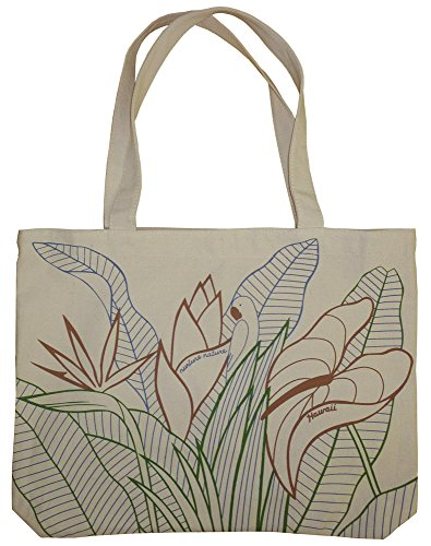 Ecolicious Mambo Jambo 100% Cotton Canvas Tote Bag from Hawaii by Ecolicious