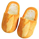 October Elf Adult Autumn Winter Slippers Warm Home Shoes (French baguette, L)