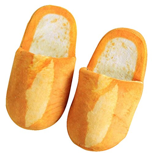 October Elf Adult Autumn Winter Slippers Warm Home Shoes (French baguette, M) -