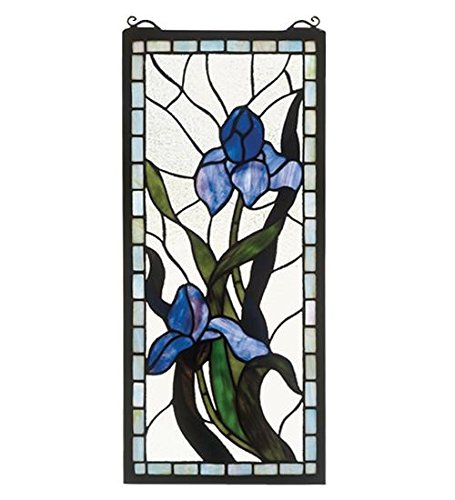 Meyda Tiffany 36073 Iris Stained Glass Window, 9