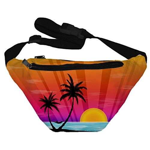 Funny Guy Mugs Island Sunset Fanny Pack - 90s Party Costume Ideas For Guys