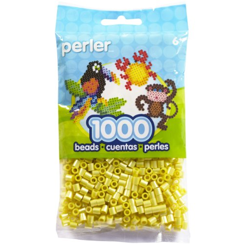 Perler Beads Bag, Pearl Yellow, 1000 Count