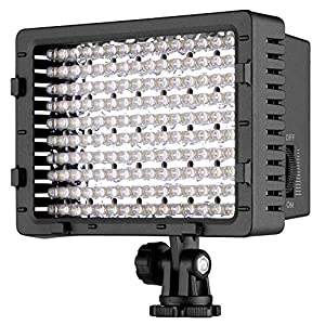 Neewer Pannello LED 160pcs da Potenza Ultra Alta Regolabile per Camera Digitale/Videocamera Video Luce/Luce LED per… 2 spesavip