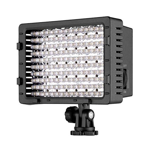 Neewer Pannello LED 160pcs da Potenza Ultra Alta Regolabile per Camera Digitale/Videocamera Video Luce/Luce LED per… 1 spesavip