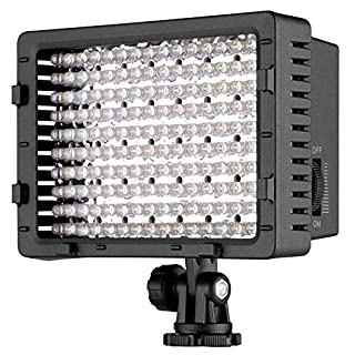NEEWER 160 LED CN-160 Dimmable Ultra High Power Panel Digital Camera / Camcorder Video Light, LED Light for Canon, Nikon, Pentax, Panasonic,SONY, Samsung and Olympus Digital SLR Cameras (B004TJ6JH6) | Amazon price tracker / tracking, Amazon price history charts, Amazon price watches, Amazon price drop alerts