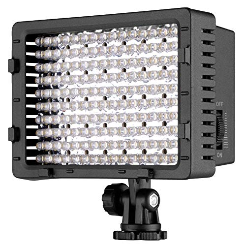 NEEWER 160 LED CN-160 Dimmable Ultra High Power Panel Digital Camera / Camcorder Video Light, LED Light for Canon, Nikon, Pentax, Panasonic,SONY, Samsung and Olympus Digital SLR Cameras from Neewer