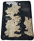 "Rabbit Tanaka Game Thrones 46"" X 60"" Map Fleece Throw Blanket"