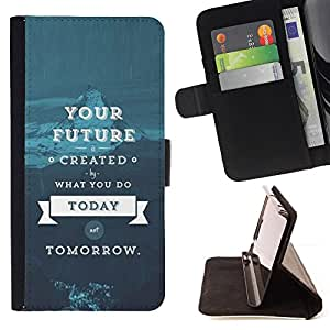 Jordan Colourful Shop - quote blue text For Apple Iphone 5C - Leather Case Absorci???¡¯???€????€???????????&AE