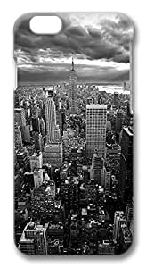 iPhone 6 Cases, New York Empire State Building Black White Protective Snap-on Hard Case Back Cover Protector Slim Rugged Shell Case For iPhone 6 (4.7 inch)